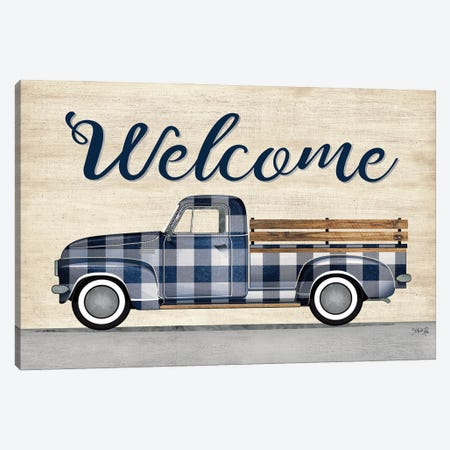 Welcome Truck Canvas Print #MRR249} by Marla Rae Canvas Art Print