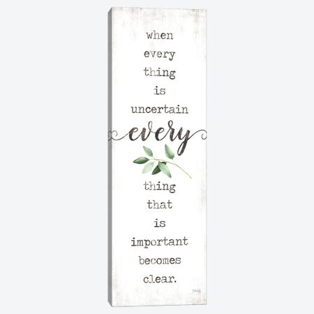 What's Important Becomes Clear Canvas Print #MRR250} by Marla Rae Canvas Artwork