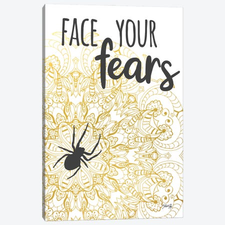 Face Your Fears Spider Canvas Print #MRR260} by Marla Rae Canvas Art Print