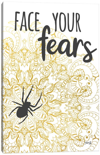Face Your Fears Spider Canvas Art Print