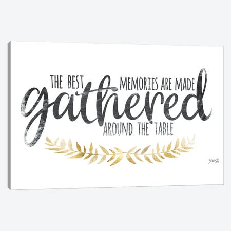 Gathered Around The Table I Canvas Print #MRR263} by Marla Rae Canvas Print