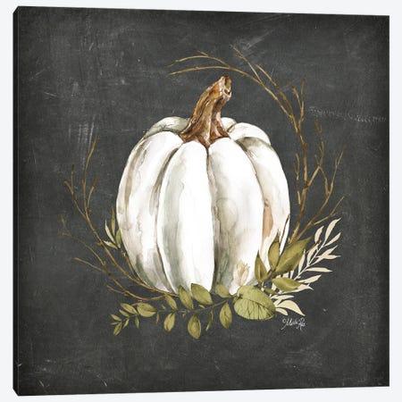 White Pumpkin Canvas Print #MRR281} by Marla Rae Canvas Print