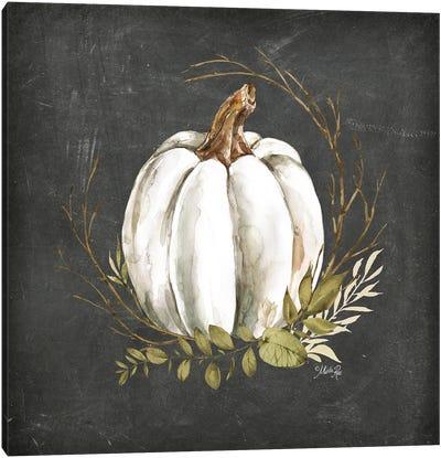 White Pumpkin Canvas Art Print