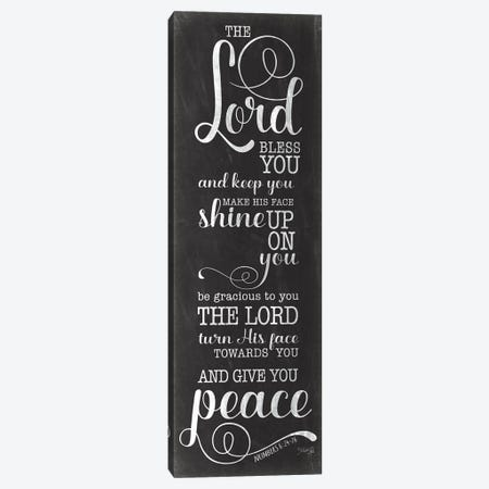 May The Lord Bless You (Black) Canvas Print #MRR285} by Marla Rae Canvas Wall Art