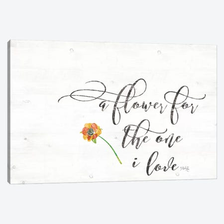A Flower Canvas Print #MRR2} by Marla Rae Canvas Print