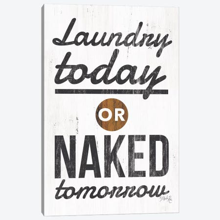 Laundry Today Canvas Print #MRR37} by Marla Rae Canvas Wall Art