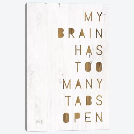 My Brain 3-Piece Canvas #MRR45} by Marla Rae Canvas Art Print