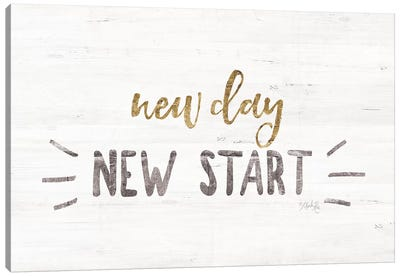 New Day, New Start Canvas Art Print