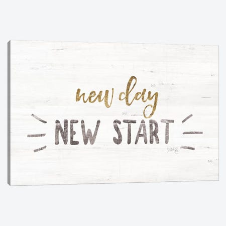 New Day, New Start Canvas Print #MRR47} by Marla Rae Canvas Art Print