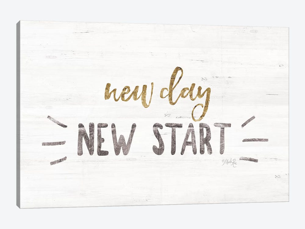 New Day, New Start by Marla Rae 1-piece Canvas Wall Art