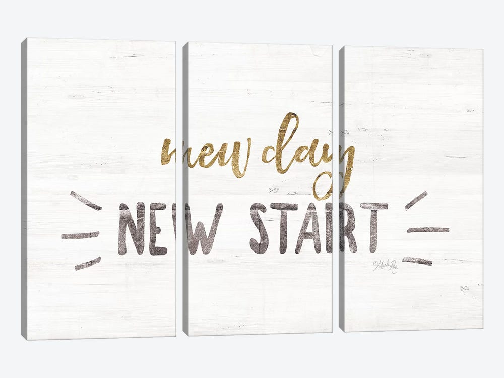 New Day, New Start by Marla Rae 3-piece Canvas Artwork