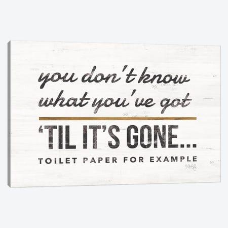 Toilet Paper Canvas Print #MRR59} by Marla Rae Canvas Art Print
