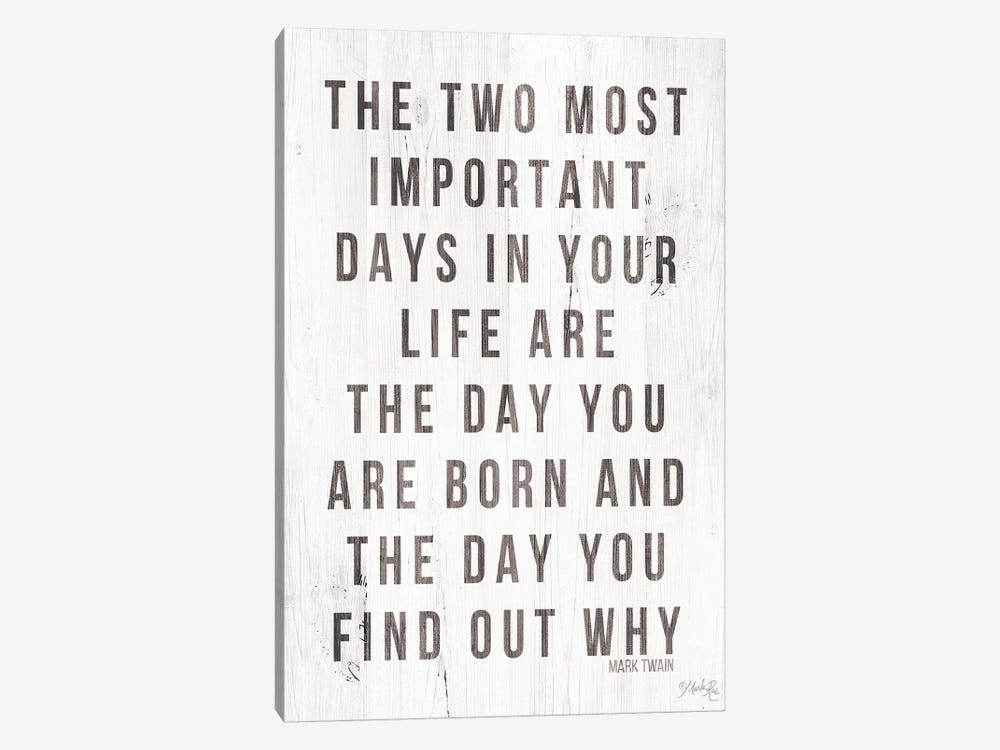 Two Most Important Days by Marla Rae 1-piece Canvas Artwork