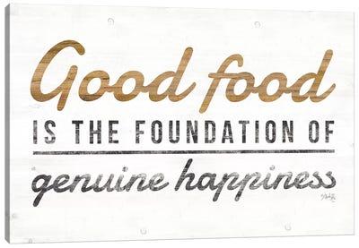 Good Food Canvas Art Print