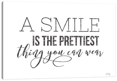 A Smile is the Prettiest Thing You Can Wear Canvas Art Print