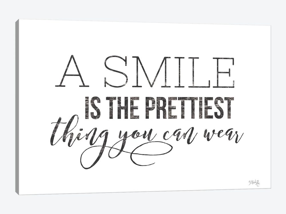 A Smile is the Prettiest Thing You Can Wear by Marla Rae 1-piece Canvas Art Print