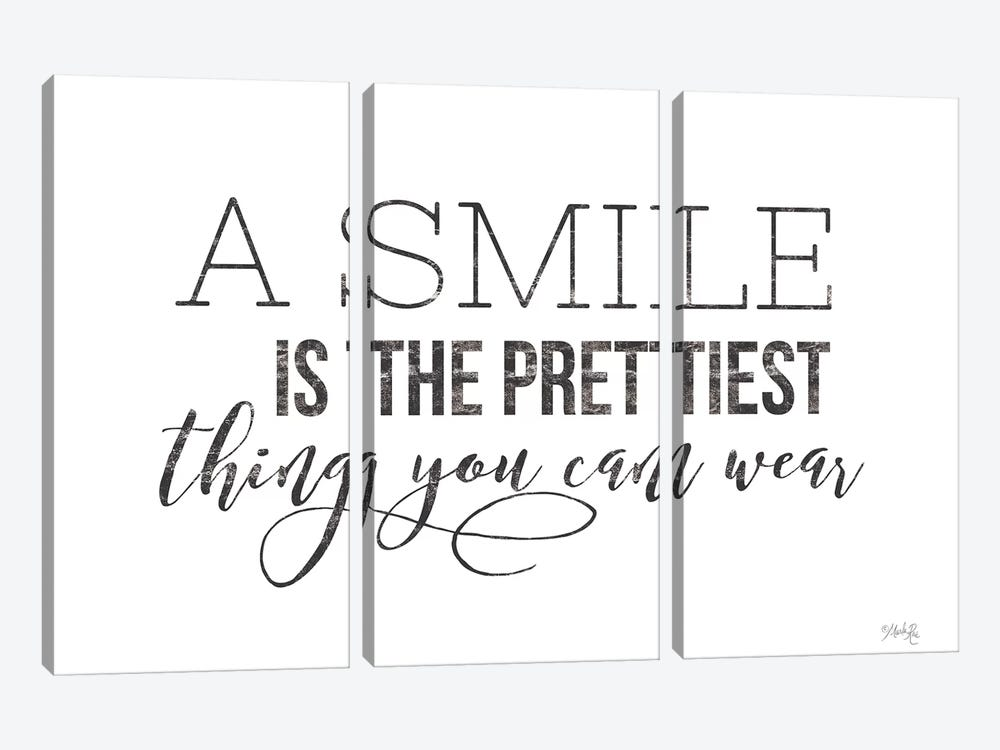 A Smile is the Prettiest Thing You Can Wear by Marla Rae 3-piece Art Print