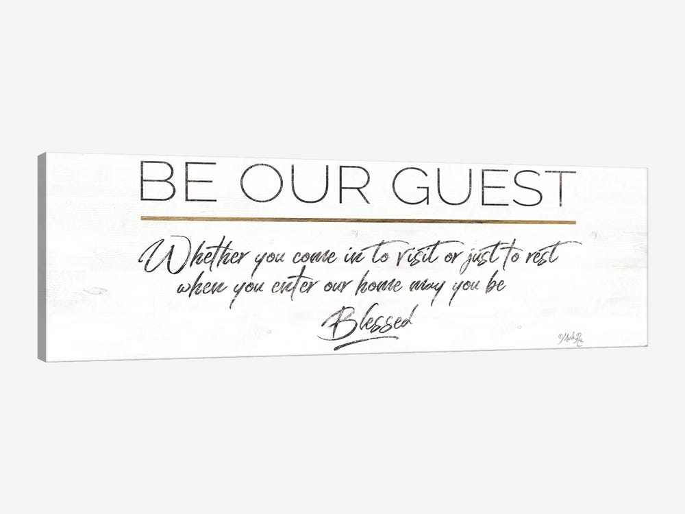 Be Our Guest by Marla Rae 1-piece Canvas Art Print