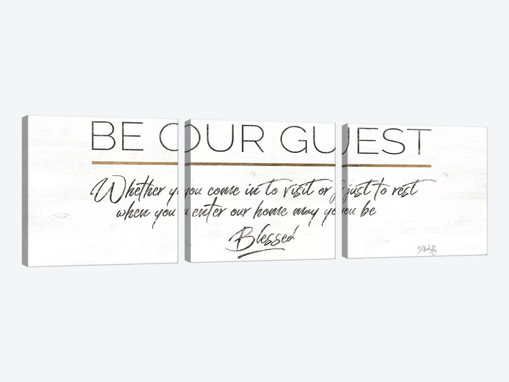 Be Our Guest by Marla Rae 3-piece Art Print