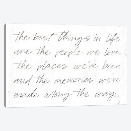 Best Things in Life Canvas Print #MRR85} by Marla Rae Art Print