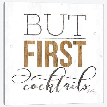 But First Cocktails 3-Piece Canvas #MRR87} by Marla Rae Canvas Print