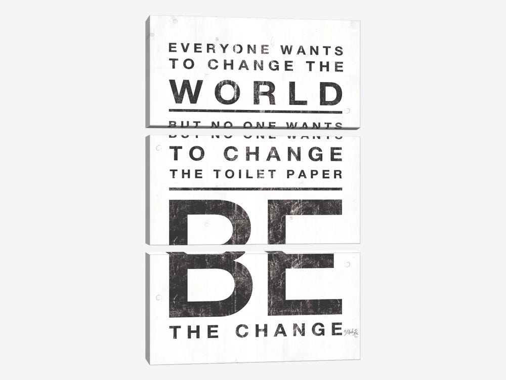 Everyone Wants to Change the World by Marla Rae 3-piece Canvas Wall Art