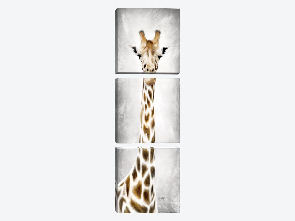 Geri the Giraffe by Marla Rae 3-piece Canvas Art