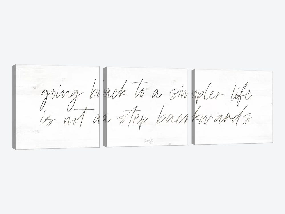 Going Back to a Simpler Life by Marla Rae 3-piece Art Print