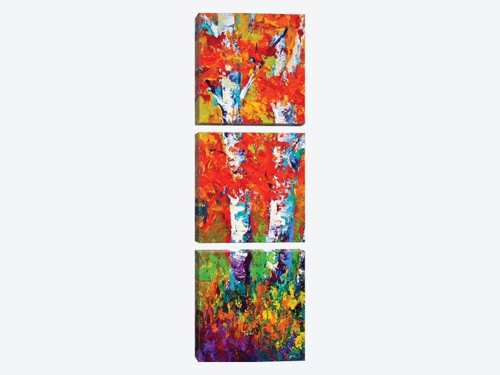 Birch Tree by Marion Rose 3-piece Canvas Wall Art