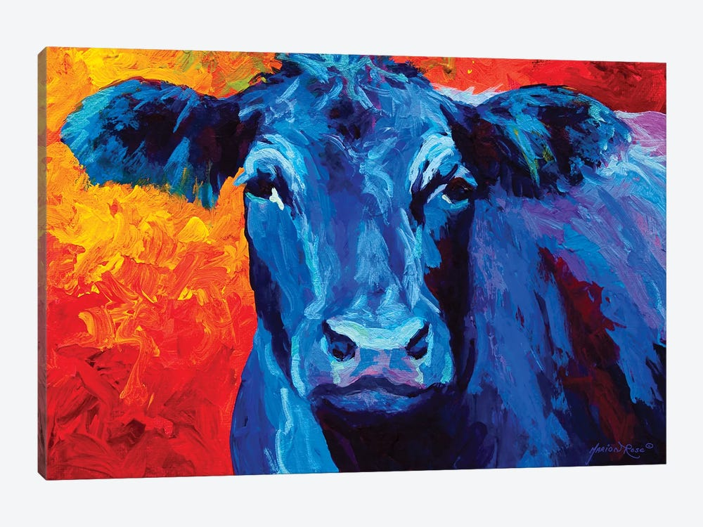 Blue Cow by Marion Rose 1-piece Canvas Art Print