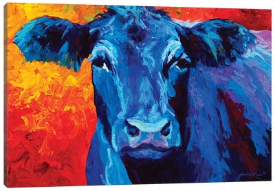 Blue Cow Canvas Art Print