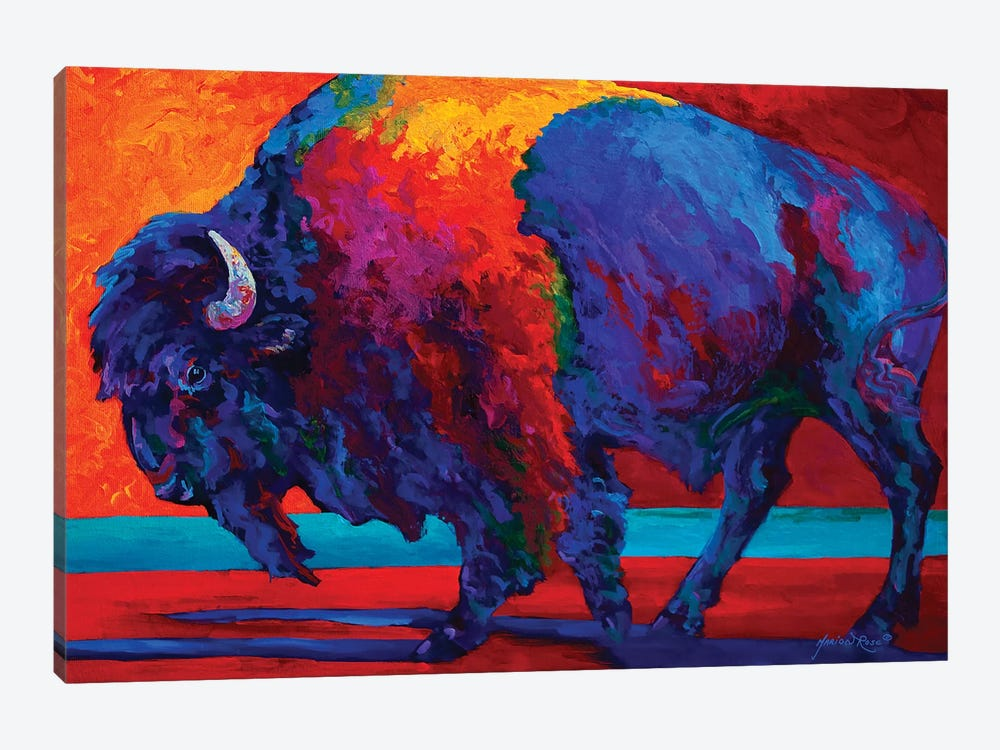 Abstract Bison by Marion Rose 1-piece Canvas Print