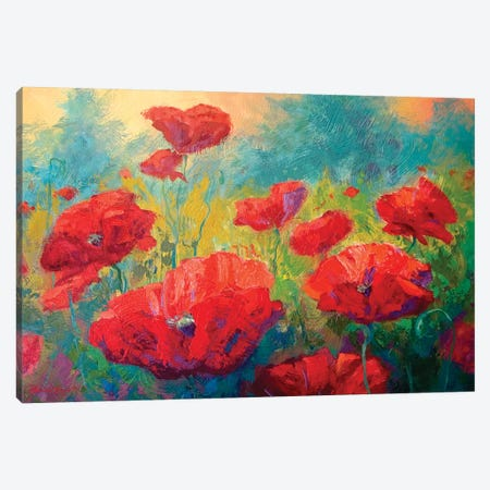 Field Of Poppies I Canvas Print #MRS43} by Marion Rose Canvas Art Print