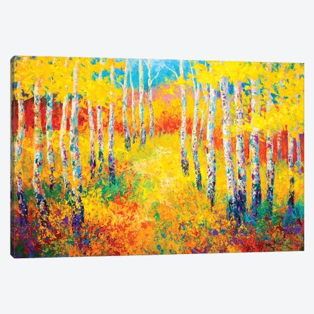 Golden Path Canvas Print #MRS49} by Marion Rose Art Print