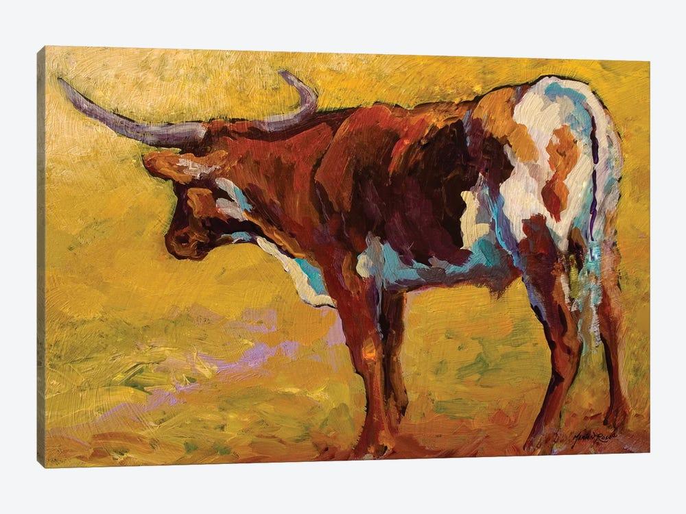 Longhorn Portrait, Back by Marion Rose 1-piece Canvas Art Print