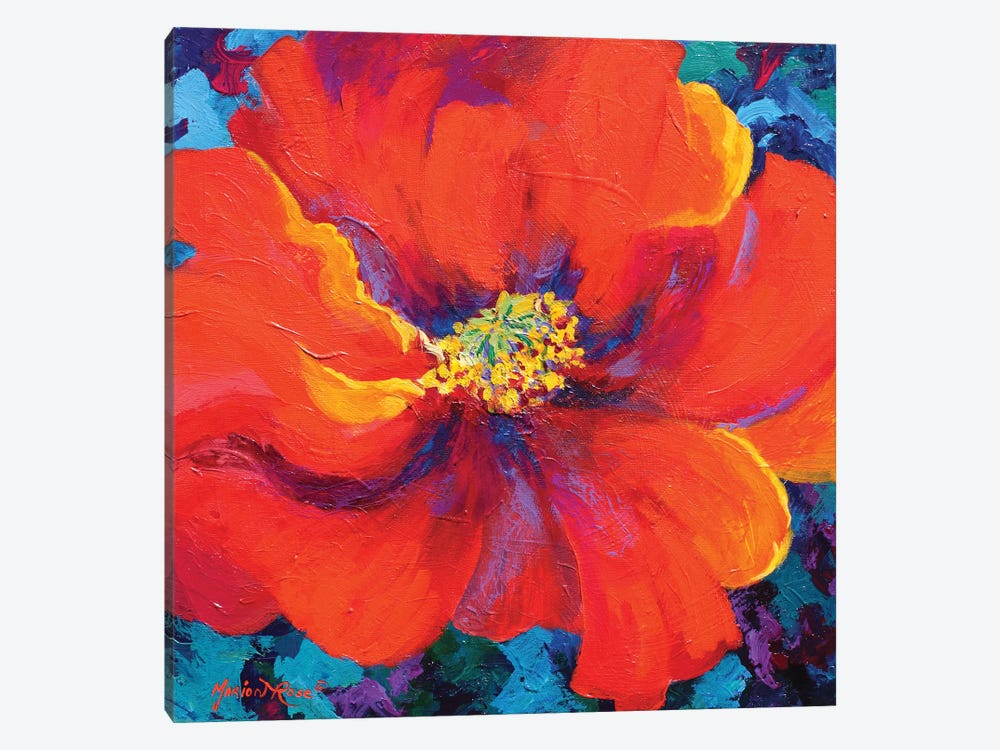 Passion Poppy by Marion Rose 1-piece Art Print
