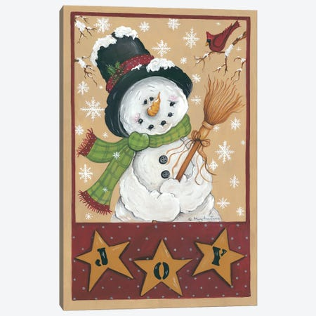 A Snowman's Joy Canvas Print #MRY1} by Mary Anne June Canvas Art