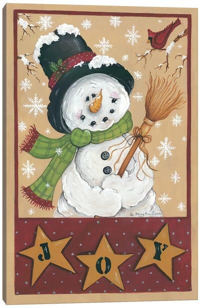 A Snowman's Joy Canvas Art Print