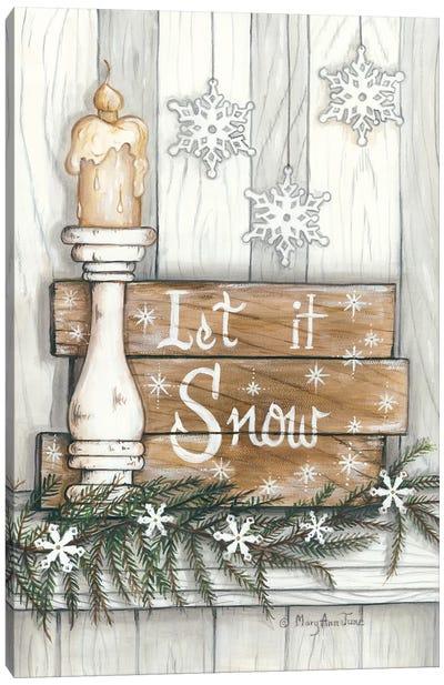 Let It Snow Snowflakes Canvas Art Print