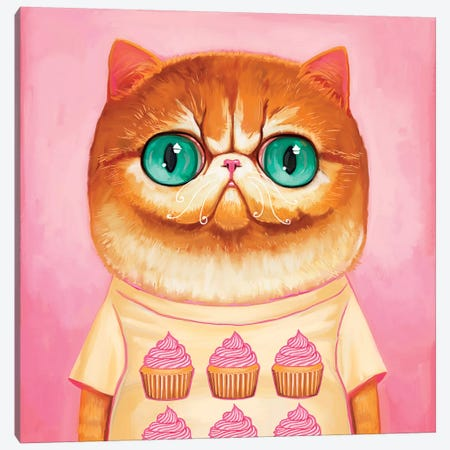 Hey Cupcake Canvas Print #MSC10} by Melanie Schultz Canvas Print