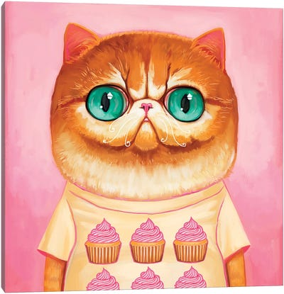 Hey Cupcake Canvas Art Print