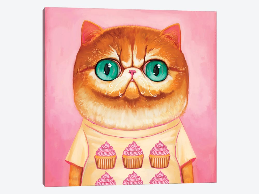 Hey Cupcake by Melanie Schultz 1-piece Canvas Wall Art
