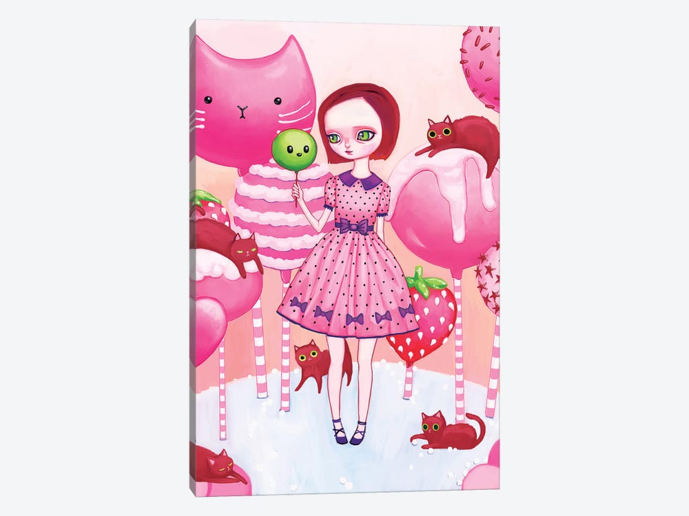 In The Land Of Cake Pops And Cats by Melanie Schultz 1-piece Art Print