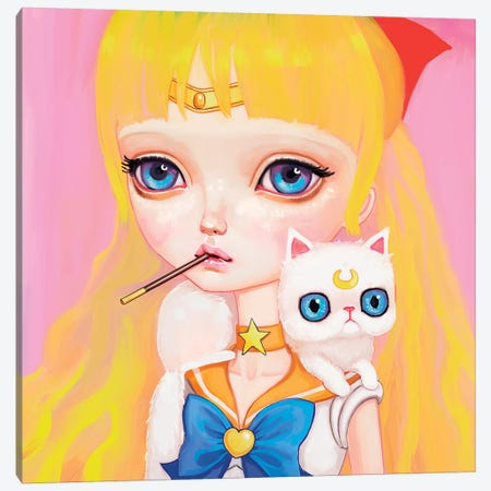Sailor Venus Canvas Print #MSC14} by Melanie Schultz Canvas Wall Art