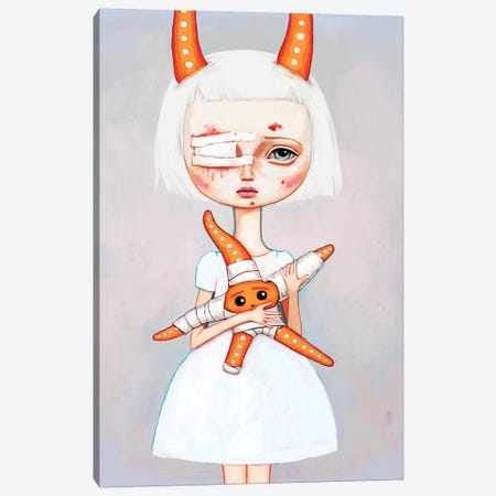 Starfish Nurse Canvas Print #MSC16} by Melanie Schultz Canvas Artwork