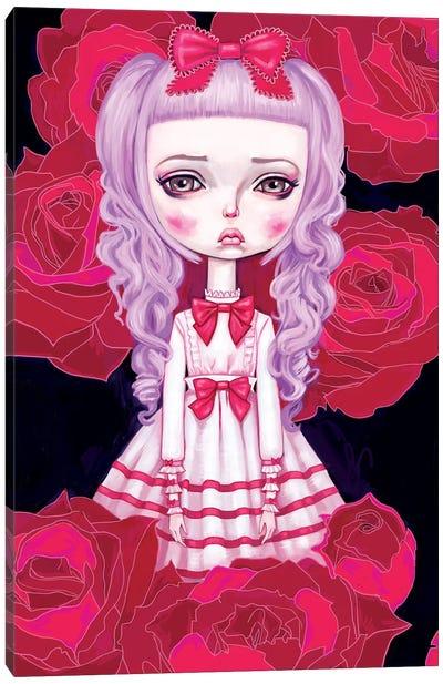 Sweet Lolita Rose Canvas Print #MSC17