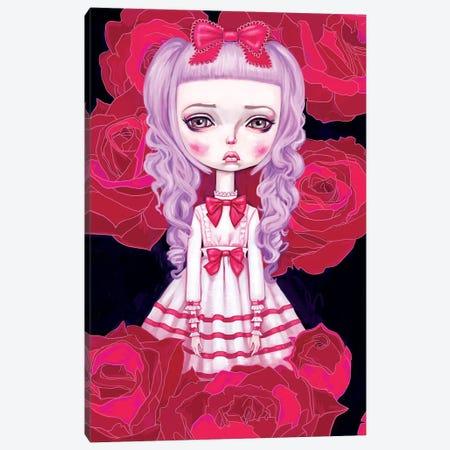 Sweet Lolita Rose 3-Piece Canvas #MSC17} by Melanie Schultz Canvas Artwork