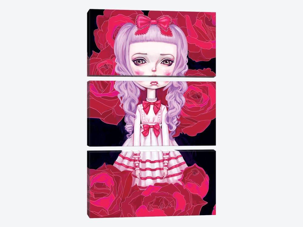 Sweet Lolita Rose by Melanie Schultz 3-piece Canvas Print
