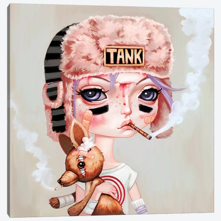 Tank Girl Canvas Print #MSC18} by Melanie Schultz Art Print