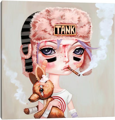 Tank Girl Canvas Art Print